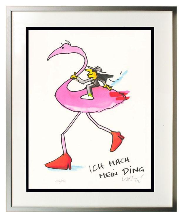 Udo Lindenberg ICH MACH MEIN DING - FLAMINGO - original handsigniert