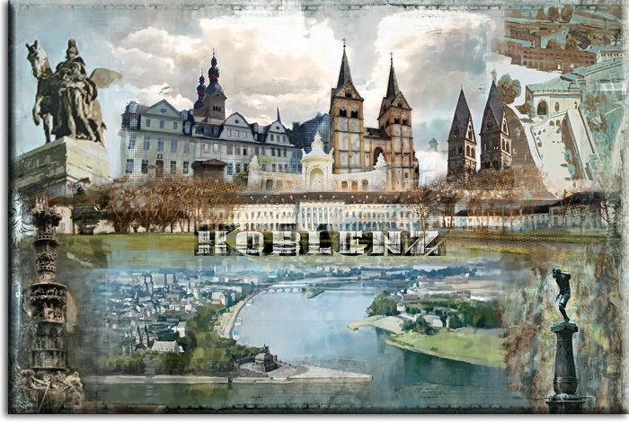 Koblenz Bild A. Baecker - Rhein-Mosel mit Schriftzug