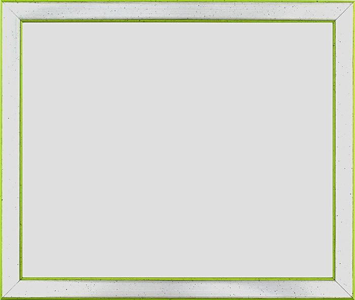 x James Rizzi Bilderrahmen Silber-Apfelgrün mit Museumsglas
