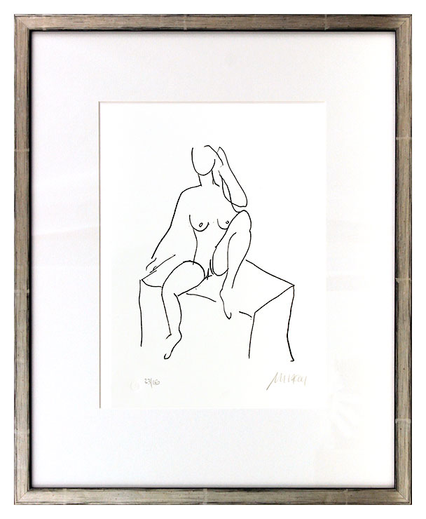 Armin Mueller-Stahl - Akt auf Stein Original Lithographie - limitiert und handsigniert