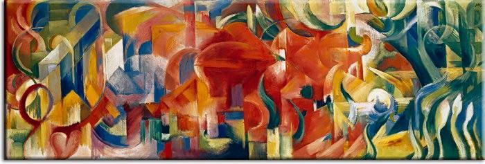 Franz Marc Spielende Formen abstraktes Leinwandbild