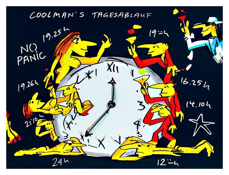 Udo Lindenberg COOLMAN'S TAGESABLAUF - original Grafik handsigniert - ohne Rahmen