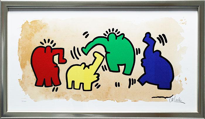 Otto Waalkes - Hommage an Keith Haring - original Grafik handsigniert