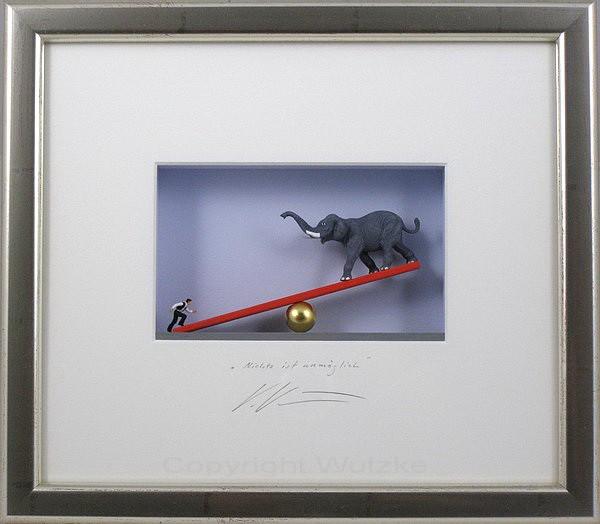 Volker Kuehn Bilder - Nichts ist unmöglich - orig. 3D-Bildobjekt