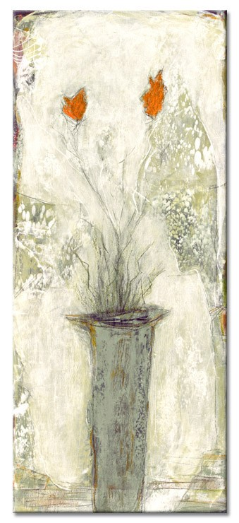 Karin Melé - Les fleurs du jardin II - Original handgemalte Mischtechnik