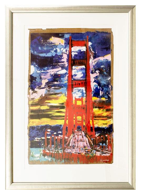 Sascha Wussow - The View From Sausalito - original Grafik handsigniert