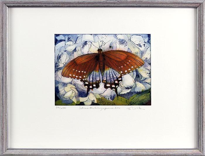 Jutta Votteler - Schmetterlingsparadies - Original Farb-Radierung - limitiert und handsigniert