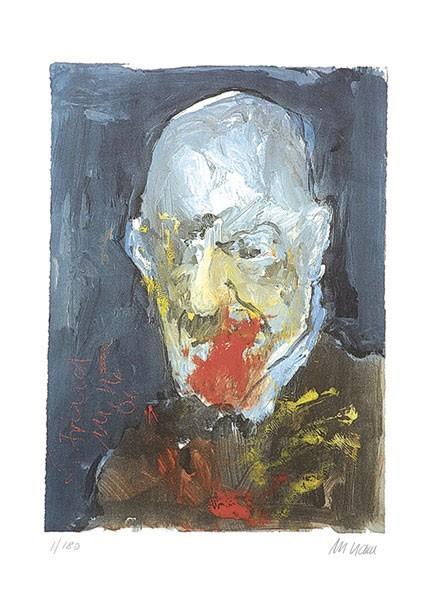 Armin Mueller-Stahl - Sigmund Freud - Original Lithografie - limitiert und handsigniert
