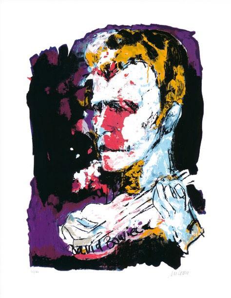 Armin Mueller-Stahl - David Bowie - Original Siebdruck - limitiert und handsigniert