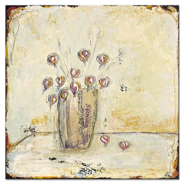 Karin Melé - Les Salutations des Fleurs II - Original handgemalte Mischtechnik