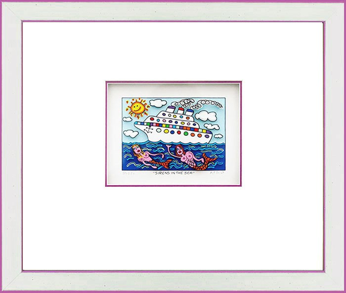 James Rizzi - SIRENS IN THE SEA - Original 3D Bild drucksigniert