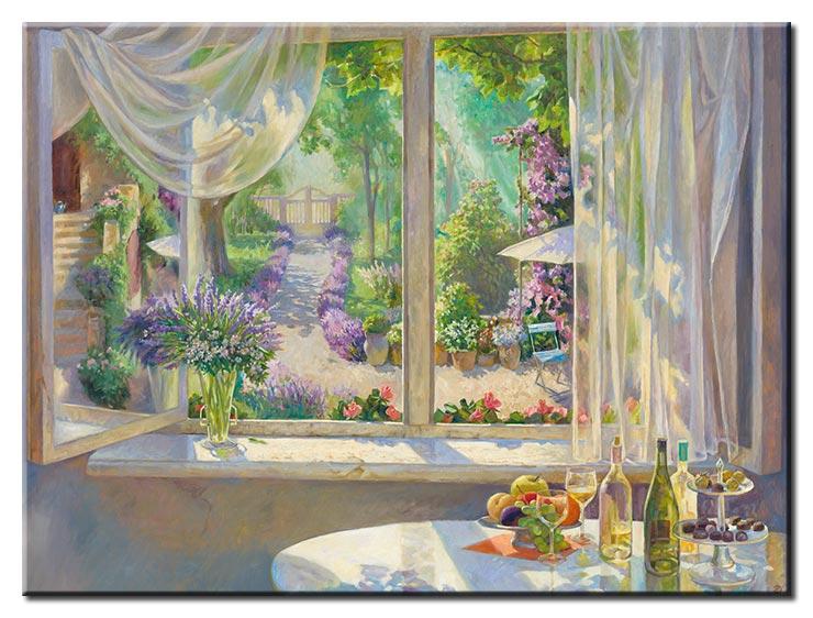 Diego Santos - Blick in den Garten