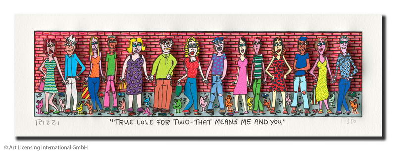James Rizzi - True love for two. that means me and you - Original 3D Bild drucksigniert - ohne Rahmen PP-Normale Nummer