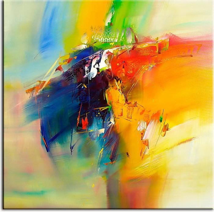 Totti Moreno Leinwandbild - Abstrakte Composition II