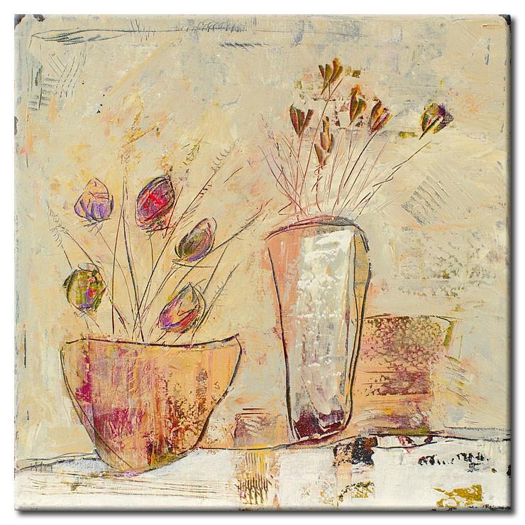 Karin Melé - Les Salutations des Fleurs - Original handgemalte Mischtechnik