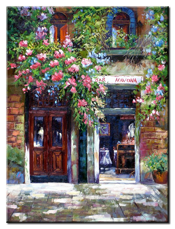 Totti Moreno - Bar mit Blumen I