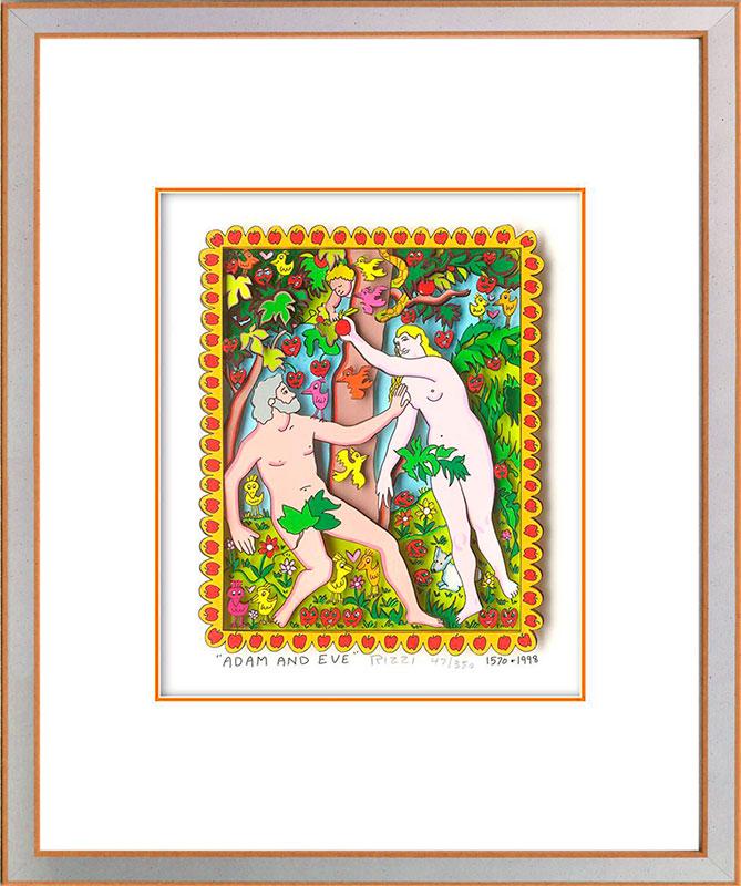 James Rizzi - Adam and Eve - Original 3D Bild