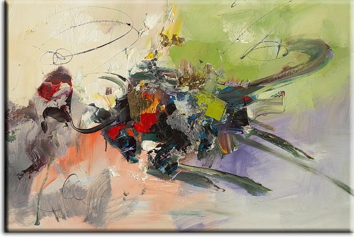 Totti Moreno - Composition Spring - abstraktes Leinwandbild
