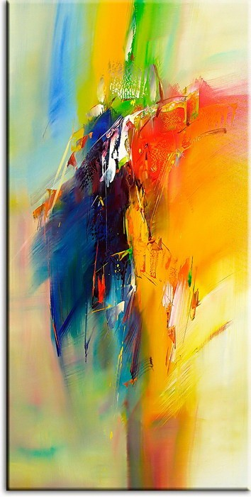 Totti Moreno Leinwandbild - Abstrakte Composition III