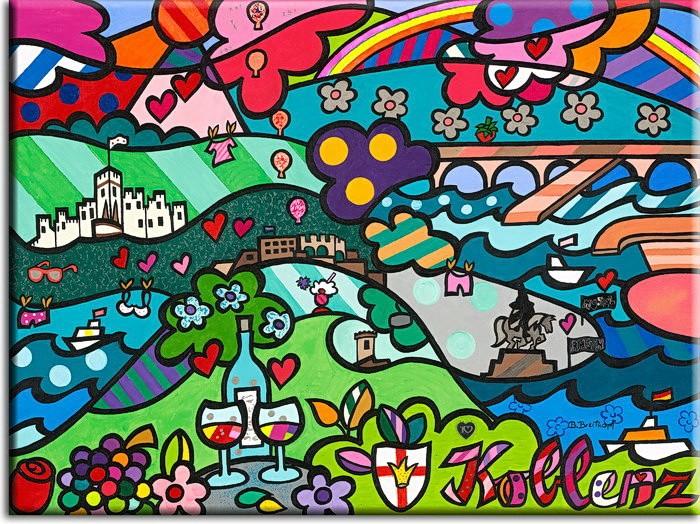 Bettina Breitkopf Pop Art Koblenz-Collage I love Koblenz