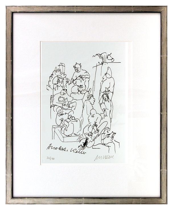 Armin Mueller-Stahl - Auerbachs Keller Original Lithographie - limitiert und handsigniert