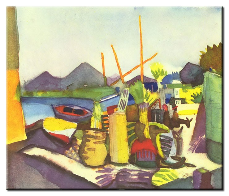 August Macke Bilder - Landschaft bei Hammamet