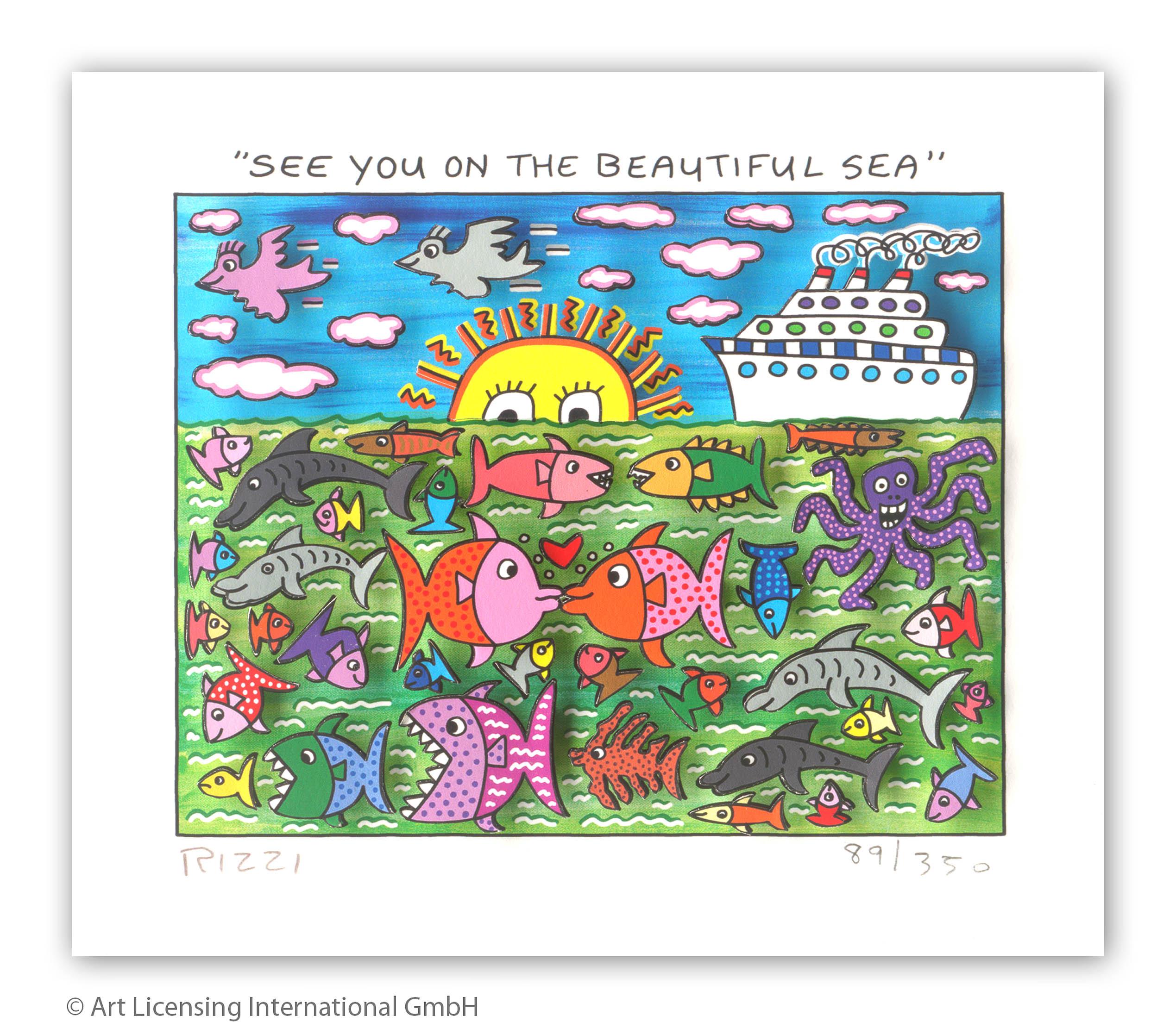 James Rizzi - SEE YOU ON THE BEAUTIFUL SEA - Original 3D Bild