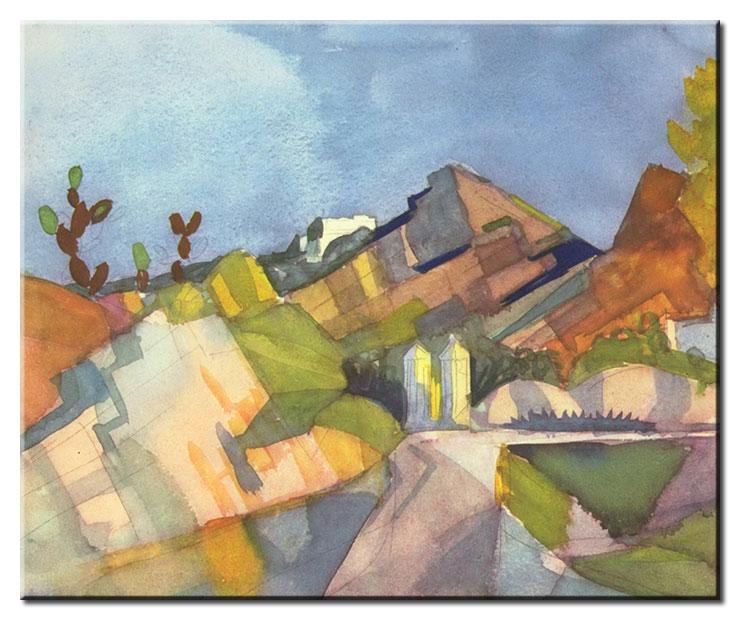 August Macke Bilder - Felsige Landschaft