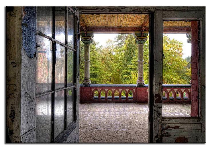 Grischka Georgiev Bilder - Romantische Veranda - Leinwandbild