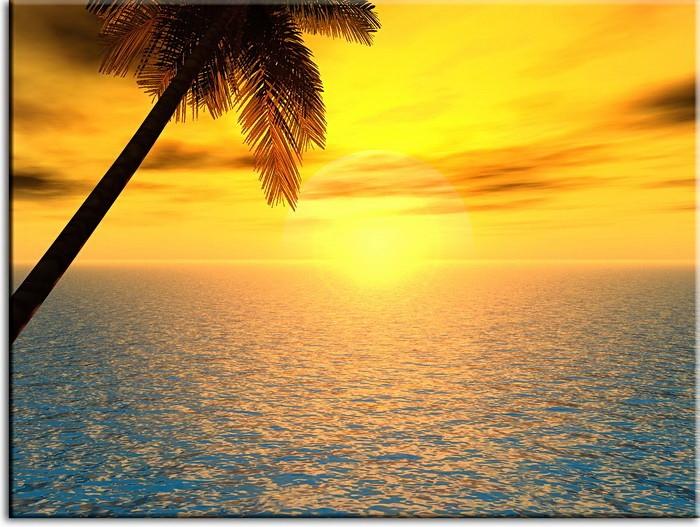 Modernes Leinwandbild - Sunset - Sonnenuntergang