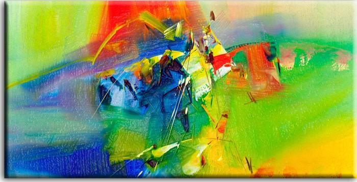Totti Moreno Leinwandbild - Abstrakte Composition