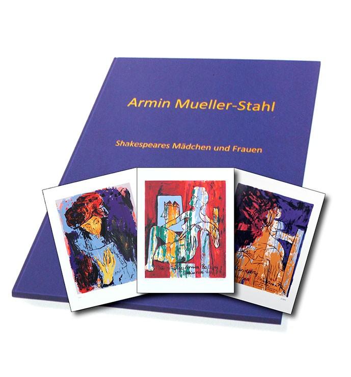 Armin Mueller-Stahl - Shakespeares Mädchen und Frauen - Mappenwerk in 9 Siebdrucken - Original Siebdrucke handsigniert