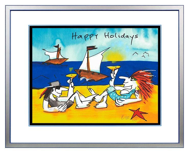 Udo Lindenberg HAPPY HOLIDAYS - original Grafik handsigniert