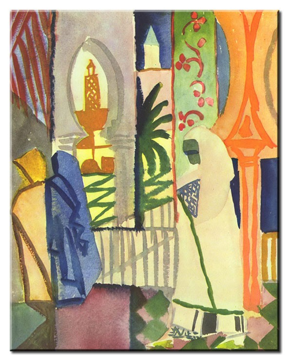August Macke Bilder - In der Tempelhalle
