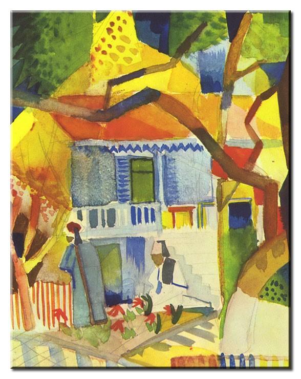 August Macke Bilder - Innenhof des Landhauses in St. Germain