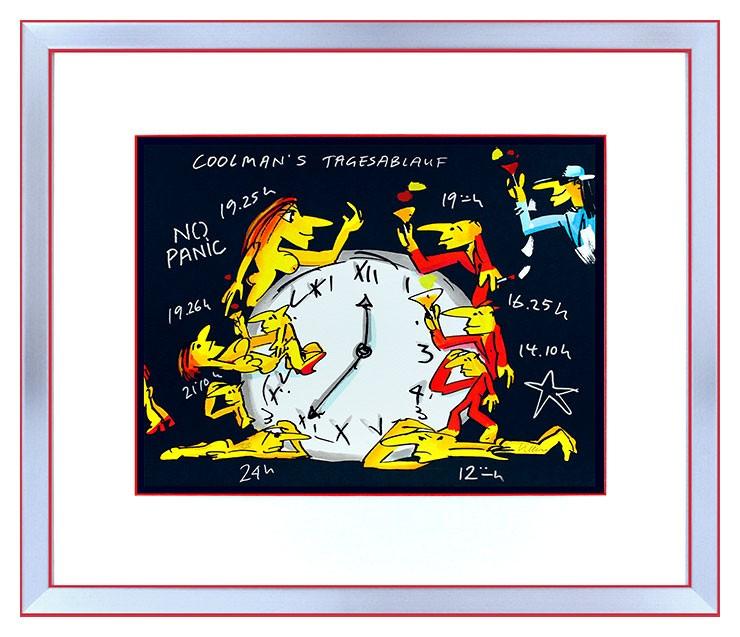 Udo Lindenberg COOLMAN'S TAGESABLAUF - original Grafik handsigniert