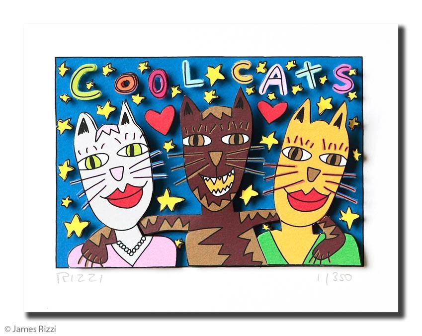 JAMES RIZZI COOL CATS - ohne Rahmen PP