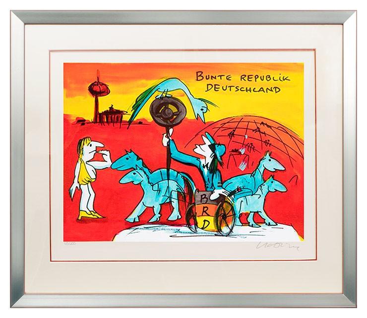 Udo Lindenberg BUNTE REPUBLIK DEUTSCHLAND - original Grafik handsigniert