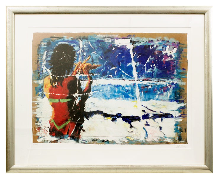 Sascha Wussow - Bali '94 - The Last Picture Of U - original Grafik handsigniert