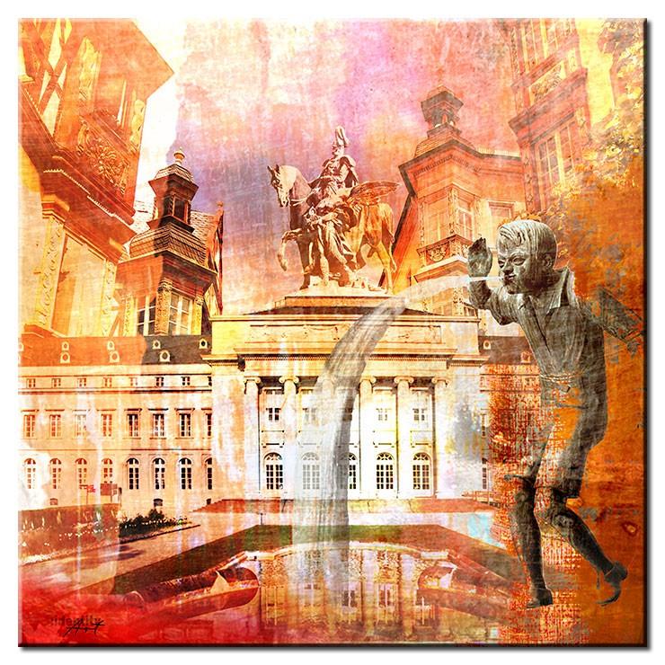 Koblenz Collage im Pop Art Stil - Schängel III