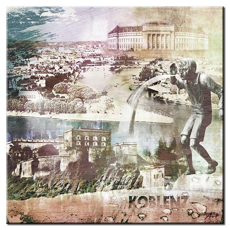 Koblenz Collage im Pop Art Stil - Schängel II