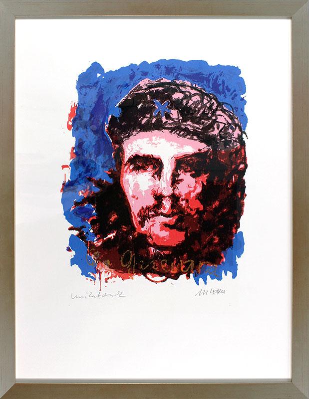 Armin Mueller-Stahl - Che Guevara - UNIKATDRUCK Nr. 33 - blau-rot - limitiert und handsigniert