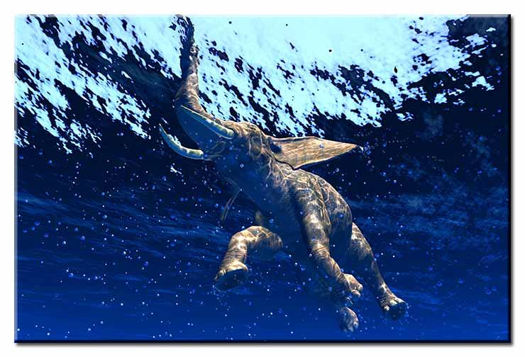 Modernes Leinwandbild - Jumbo Bubbles - Elephant under water