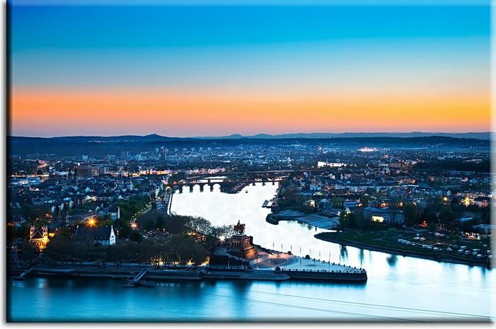 Leinwandbild Koblenz Abendstimmung