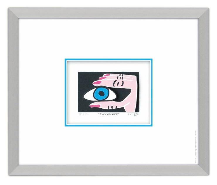 James Rizzi - Eyecatcher - Original 3D Bild drucksigniert - ohne Rahmen PP-Normale Nummer