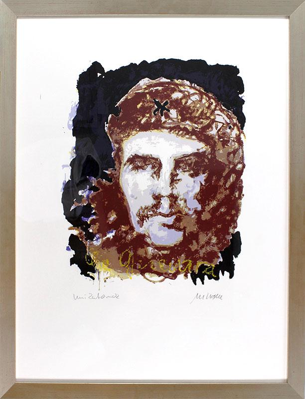 Armin Mueller-Stahl - Che Guevara - UNIKATDRUCK Nr. 31 - schwarz-braun - limitiert und handsigniert