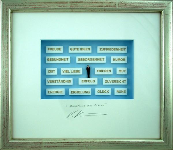 Volker Kuehn Bilder - Bausteine des Lebens - Orig. 3D-Bildobjekt