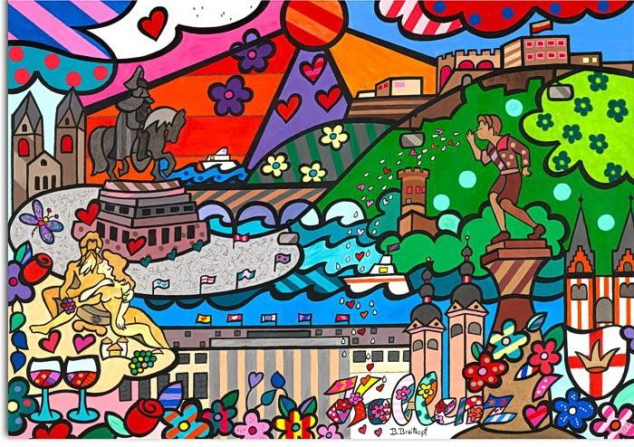 Bettina Breitkopf Pop Art Collage Koblenz Total bunt