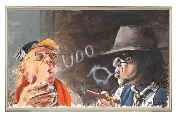 Otto Waalkes - LORD OF SE RINGS - ORIGINAL PIGMENTGRAFIK AUF LEINWAND