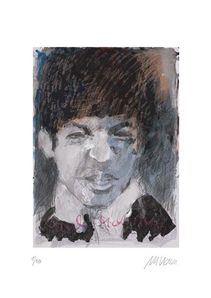 Armin Mueller-Stahl - Paul McCartney - Original Giclée Grafik - limitiert und handsigniert